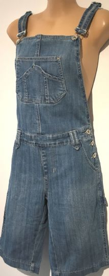 CHOKLATE DENIM DUNGAREE SHORTS BNWT SIZE 12